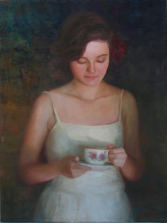 Tea and Roses, Oil Painting