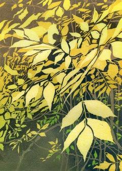 Falling (brilliant yellows, lush greens, leaves)