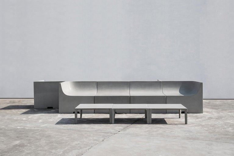 'SHI' Modular Bench / Sofa made of Concrete For Sale 4