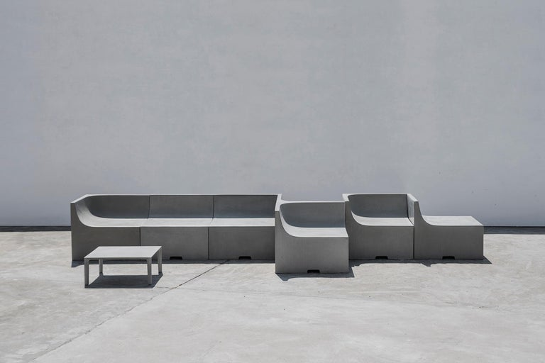 'SHI' Modular Bench / Sofa made of Concrete For Sale 5