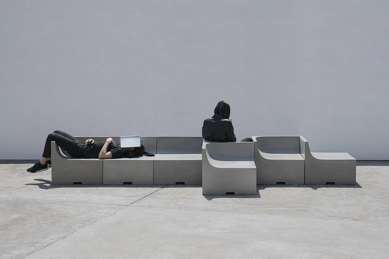Chinese 'SHI' Modular Bench / Sofa Made of Concrete For Sale