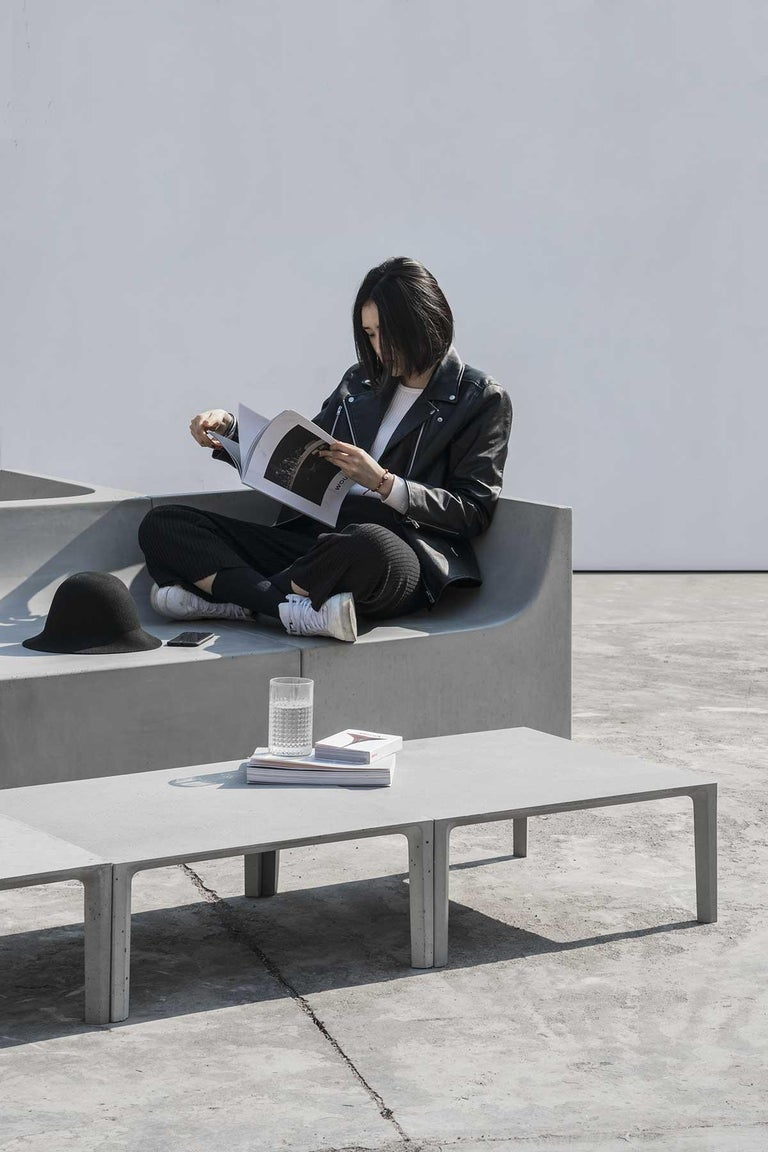 'SHI' Modular Bench / Sofa made of Concrete In New Condition For Sale In Paris, FR