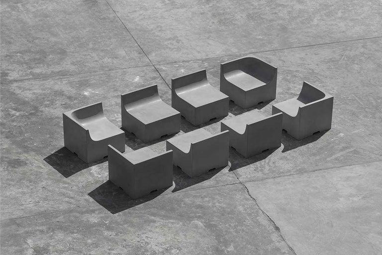 'SHI' Modular Bench / Sofa Made of Concrete For Sale 1