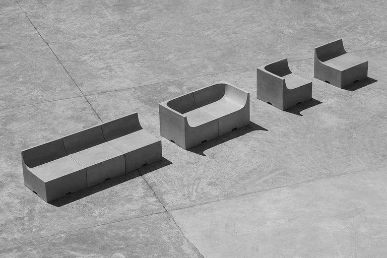 'SHI' Modular Bench / Sofa Made of Concrete For Sale 2
