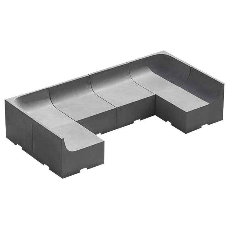 'SHI' Modular Bench / Sofa Made of Concrete For Sale