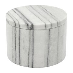 Shiba Large Marble Box in White Marble by CuratedKravet