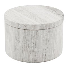Shiba Small Marble Box in White Marble by CuratedKravet