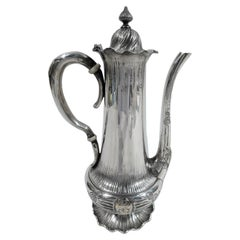 Shiebler Medallion Sterling Silver & 14K Gold Turkish Coffeepot