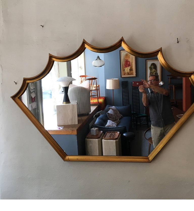 Shield Gilt Mirror For Sale 1