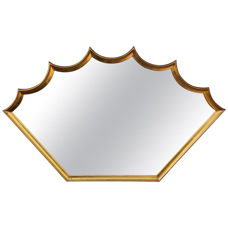 Shield Gilt Mirror For Sale