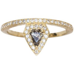 Shield Shaped Fancy Colored Diamond Ring