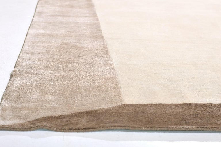 Indian Shift in Rug, Design Rhymes Collection by Mehraban For Sale
