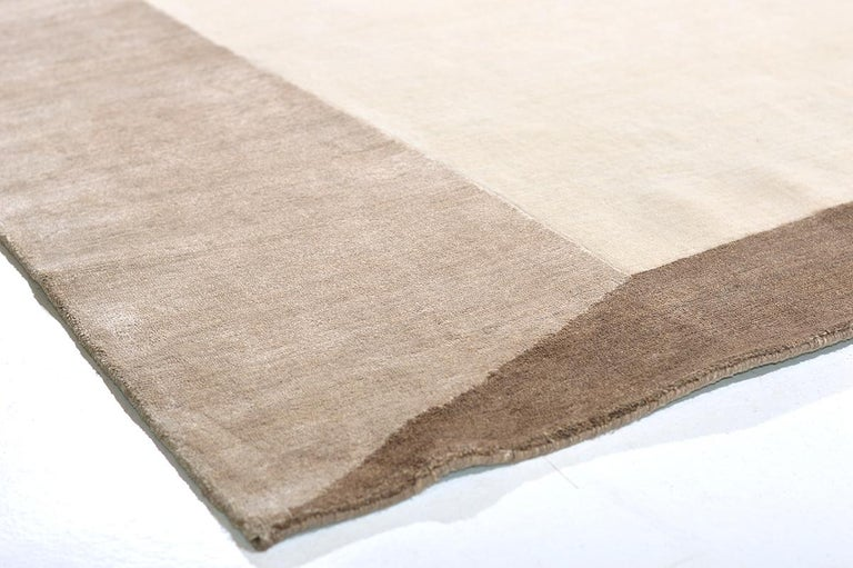 Wool Shift in Rug, Design Rhymes Collection by Mehraban For Sale