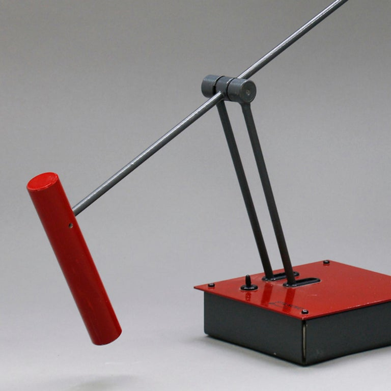Post-Modern Shigeaki Asahara, Samurai, a Table Lamp for Stilnovo, 1980 For Sale