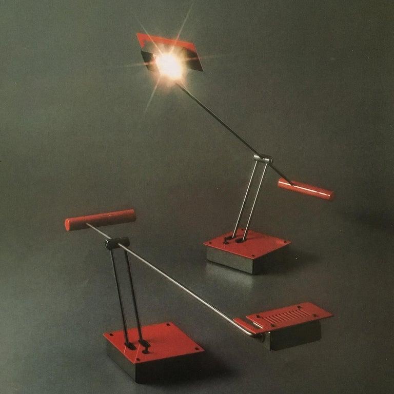 Shigeaki Asahara, Samurai, a Table Lamp for Stilnovo, 1980 In Good Condition For Sale In Paris, FR