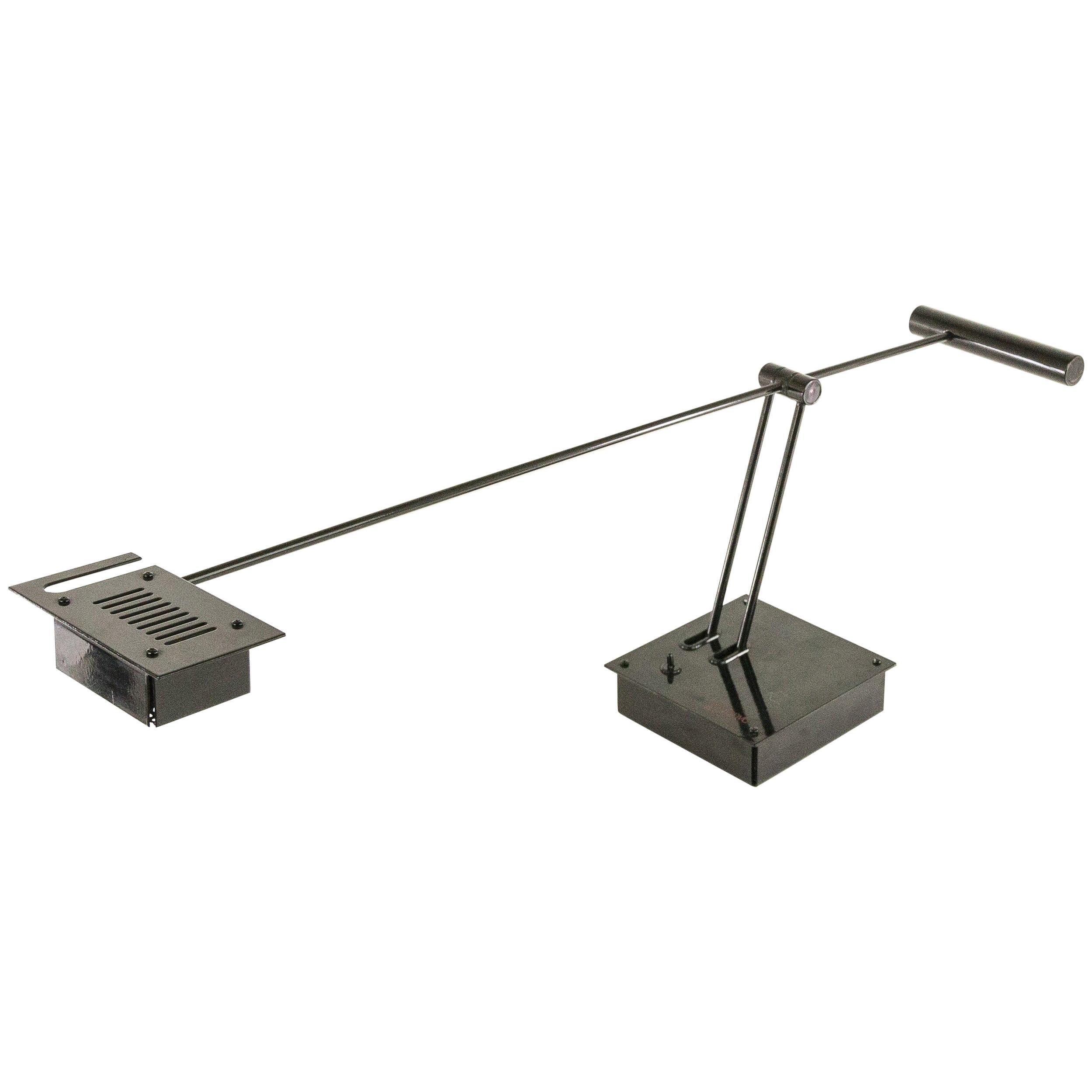 Shigeaki Asahara Table Lamp Samurai for Stilnovo in Black, 1970s