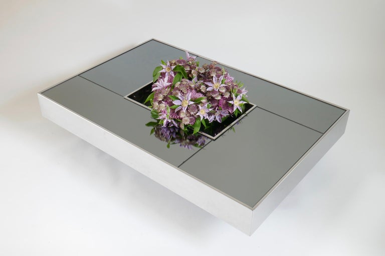 Stainless Steel Shilling Coffee Table by Giovanni Ausenda for Ny Form, 1970s For Sale
