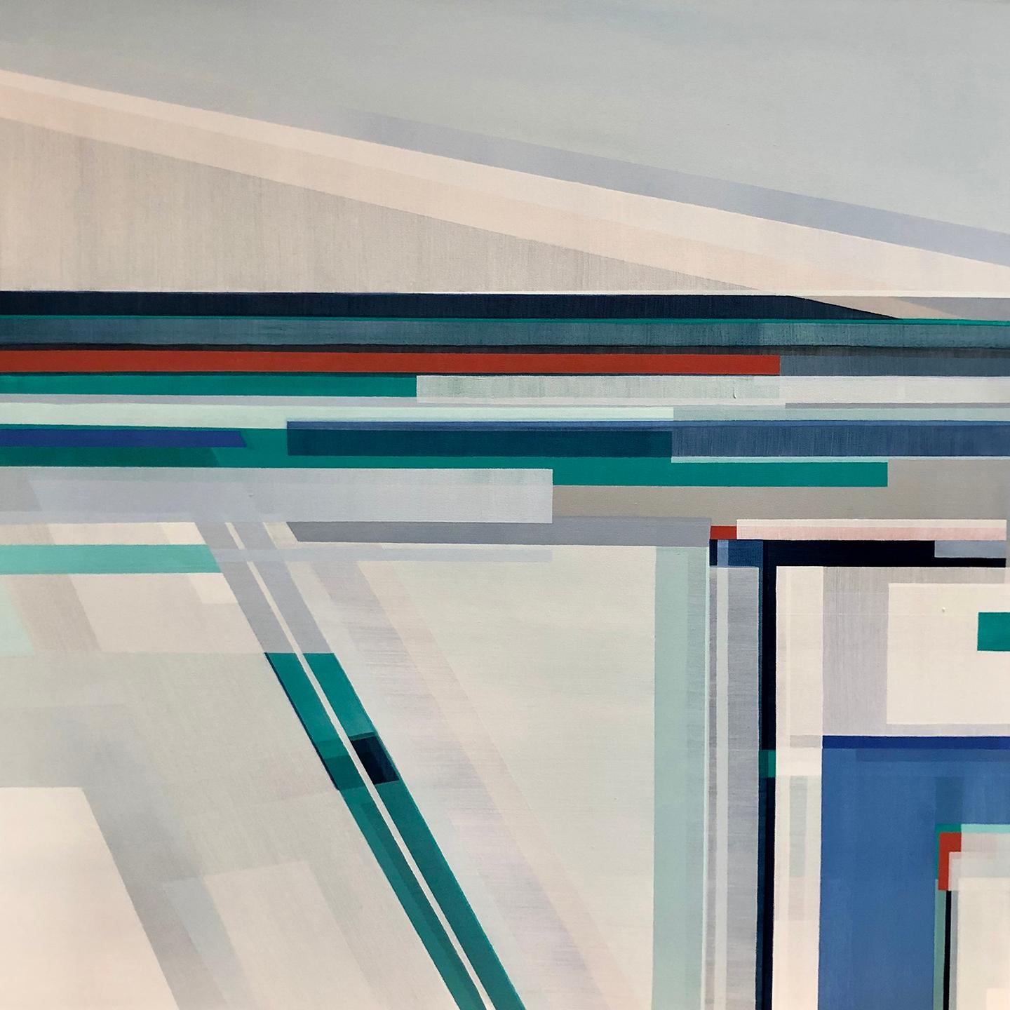 """""""Arctic Lands,"""" Abstract Geometric Painting"""