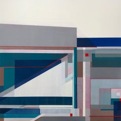 """""""Bigger Than Us,"""" Abstract Geometric Painting"""