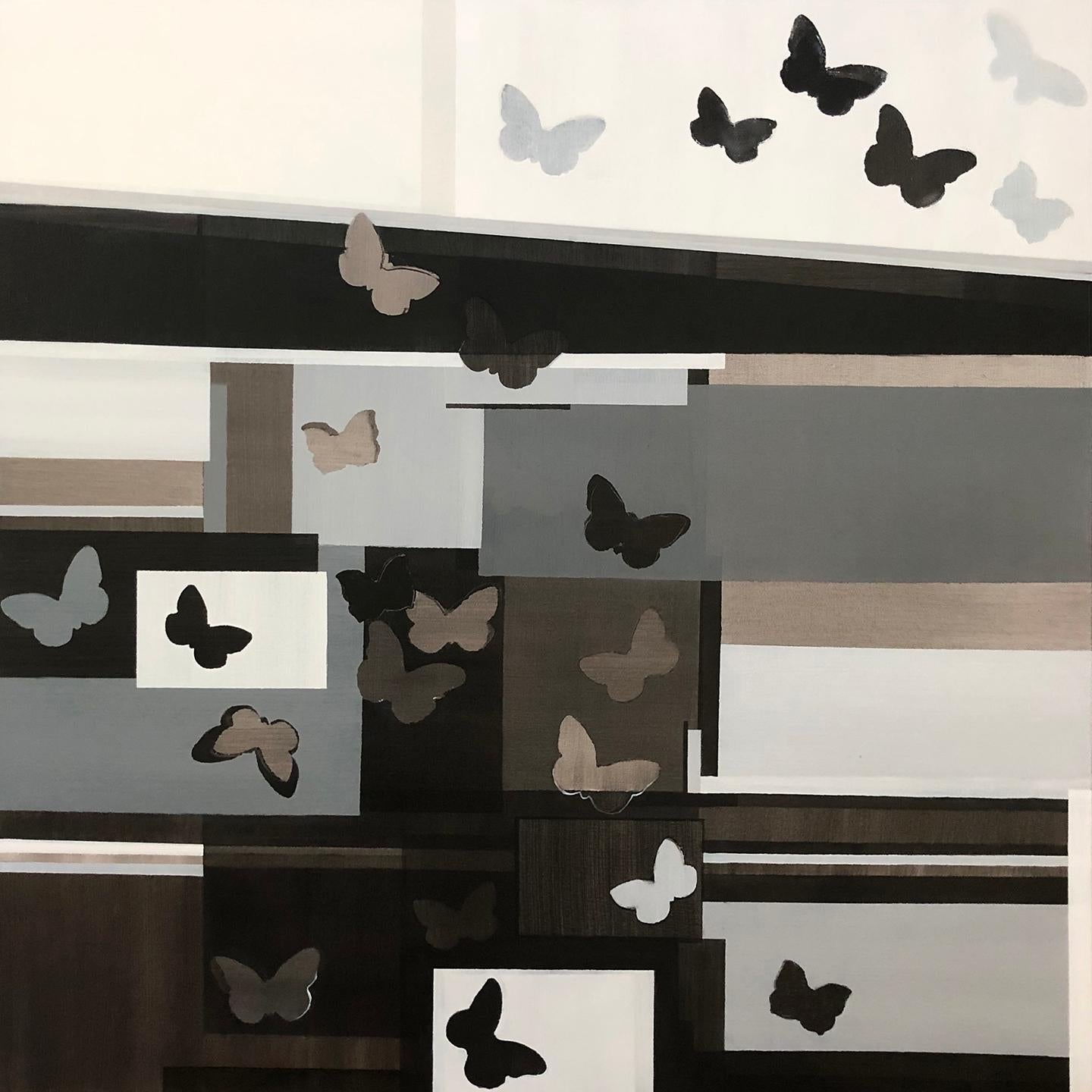 """""""Butterflies,"""" Abstract Geometric Painting"""