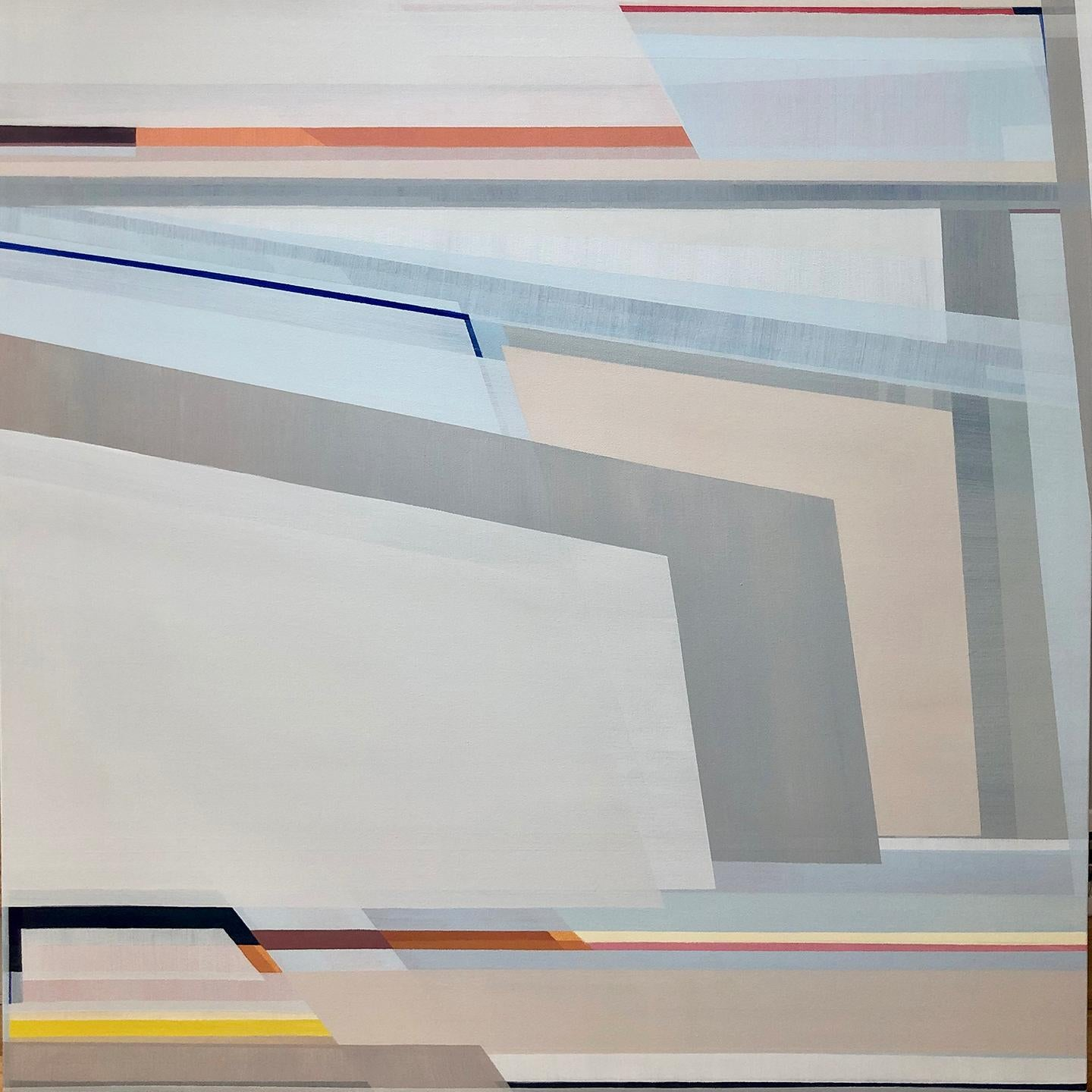 """""""Echo,"""" Abstract Geometric Painting"""