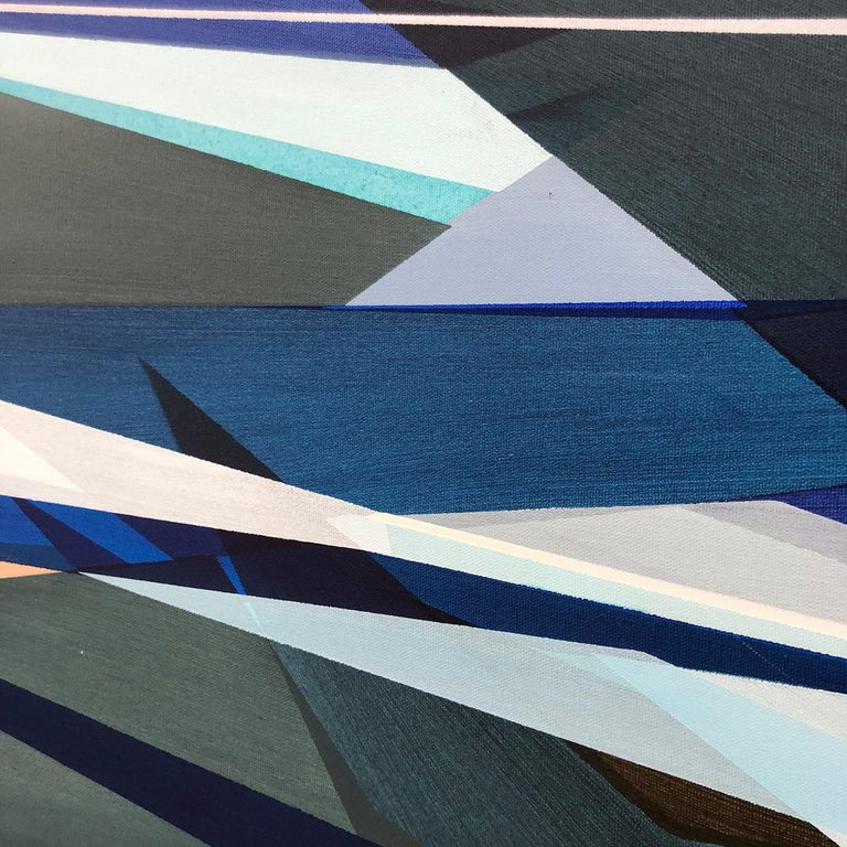 'Fathomless' Large contemporary abstract geometric painting 1