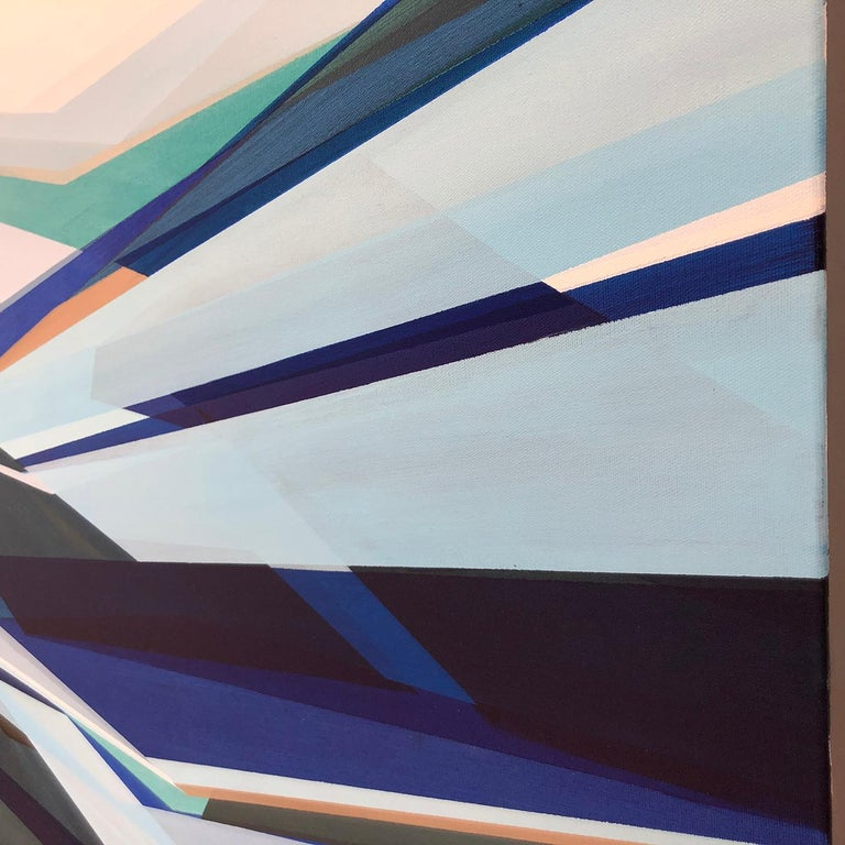 'Fathomless' Large contemporary abstract geometric painting 2
