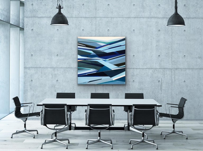 Shilo Ratner Abstract Painting - 'Fathomless' Large contemporary abstract geometric painting