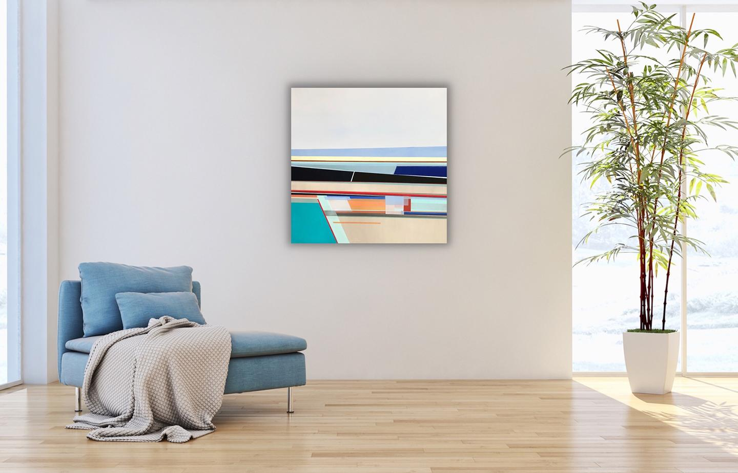 """""""Looking Up at the Open Sky,"""" Abstract Geometric Painting"""