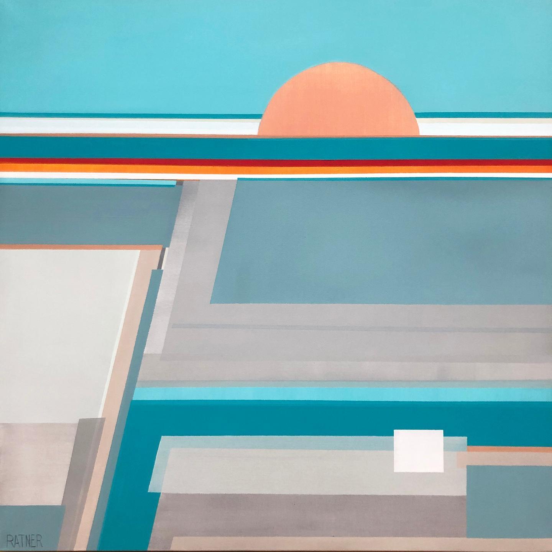 """Morning Awakening,"" Contemporary Abstract Geometric Painting"