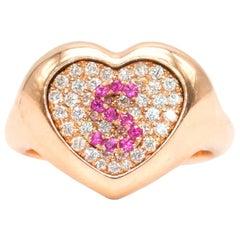 Shima Azman 18 Karat Gold 'S' Signet Ring