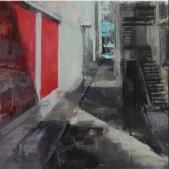 """""""San Francisco Alley,"""" Oil Painting"""