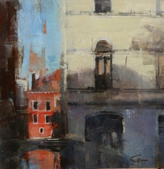 """""""Venice from the Bridge,"""" Oil Painting"""