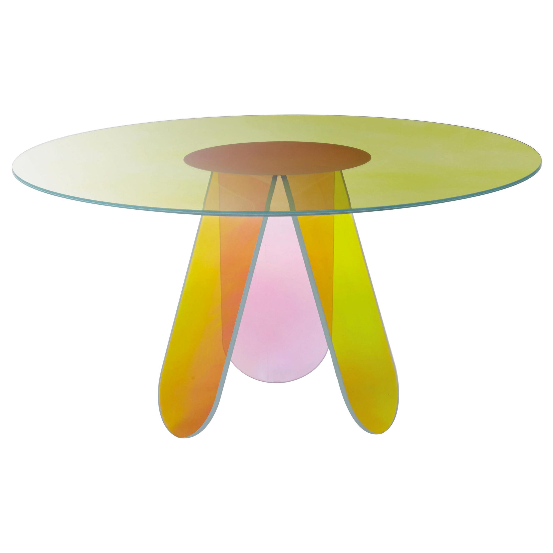 Shimmer Circular Medium High Table D 120cm, by Patricia Urquiola for Glas Italia