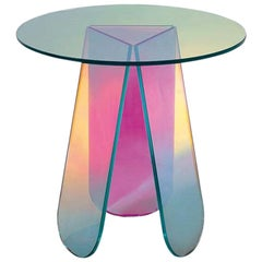 Shimmer Circular Small Low Table, by Patricia Urquiola for Glas Italia