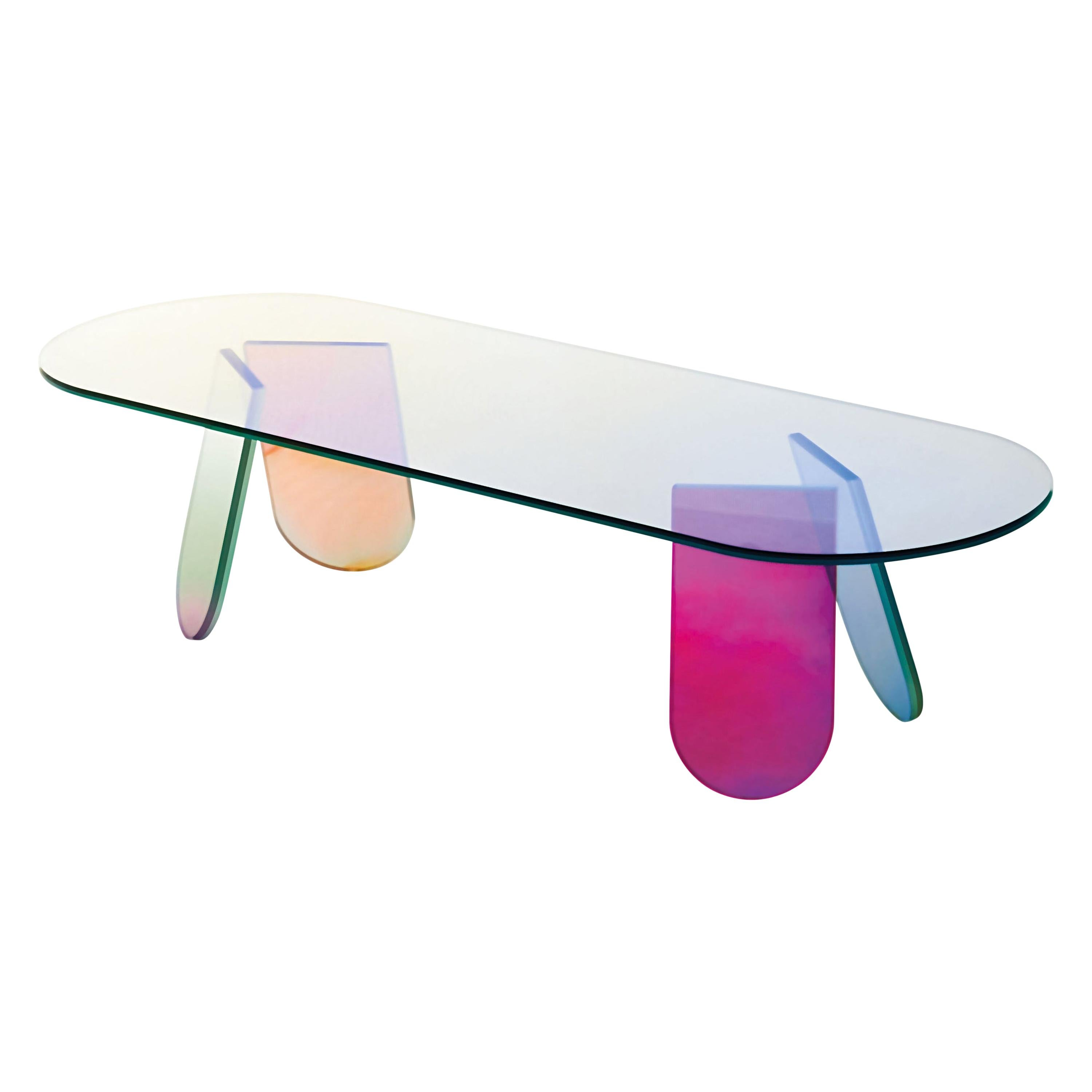 Shimmer Large Oval Low Table, by Patricia Urquiola for Glas Italia