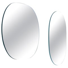 Shimmer Small Iridescent Rounded Mirror, by Patricia Urquiola from Glas Italia
