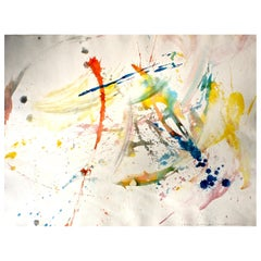 Shingo Honda 'To White Space' Series Abstract Expressionist Watercolor