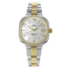 Shinola Gomelsky S0120001103 White Mother of Pearl Steel Two-Tone Ladies Watch
