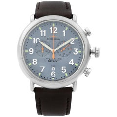Shinola Runwell Chronograph Steel Blue Dial Quartz Men's Watch S0110000167