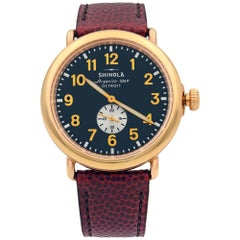 Shinola Runwell Midnight PVD Rose Gold Steel Blue Dial Quartz Watch S0110000168