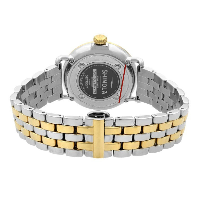 Shinola Runwell Two-Tone Mother of Pearl Dial Quartz Ladies Watch 10000237 For Sale 2