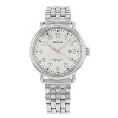 Shinola Runwell White Dial Stainless Steel Quartz Men's Watch 10000054