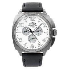 Shinola The Brakeman Grey PVD Steel White Dial Quartz Men's Watch S10000188