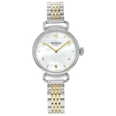 Shinola The Canfield Mother of Pearl Two-Tone Steel Quartz Ladies Watch 20018678