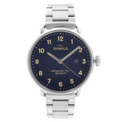 Shinola The Canfield Stainless Steel Blue Dial Quartz Mens Watch S0120018331