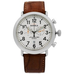 Shinola The Runwell Chrono White Arabic Dial Quartz Men's Watch S0100045