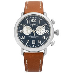 Shinola The Runwell Chronograph Midnignt Blue Dial Quartz Mens Watch S0120044131