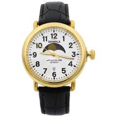 Shinola The Runwell Gold Tone Steel Moon Phase Quartz Men's Watch 11000182