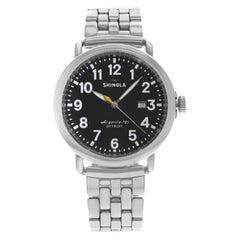 Shinola The Runwell Stainless Steel Black Dial Quartz Men's Watch 10000053